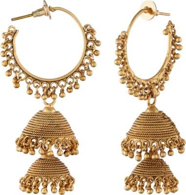 Tatva Double Step Copper Jhumki Earring