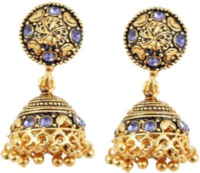 Diovanni Gorgeous Looking Royal Golden Metal Jhumki Earring