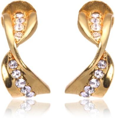 Eclat 713122G Swarovski Crystal Alloy, Brass Stud Earring
