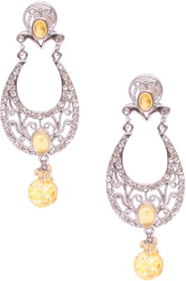 Rubena bling Cubic Zirconia Metal Drop Earring