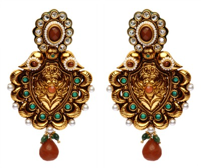 Rays Brass, Copper Drop Earring