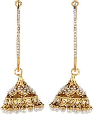 Adwitiya Collection Durable Construction Copper Jhumki Earring