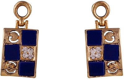 R18Jewels-Fashion&U Royal Sparkle Blue Metal Drop Earring