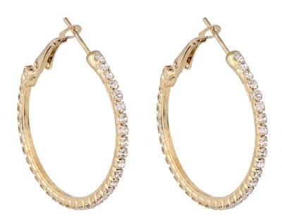 Castle Street Elegant Gold Alloy Hoop Earring