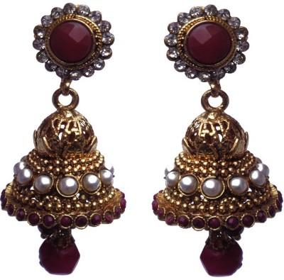 Kundaan Designer Crystal Copper Jhumki Earring