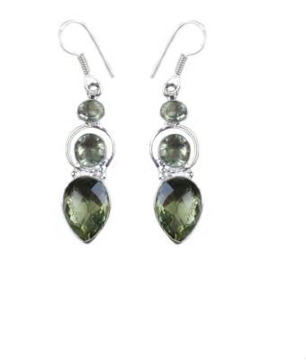 vaibhav fashion Amber German Silver Drop Earring