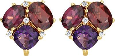 JacknJewel Ruby Vintage Yellow Gold 18kt Diamond Stud Earring