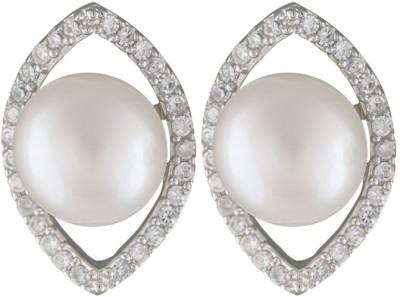 Krishna Pearls & Jewellers Pearl Silver Stud Earring