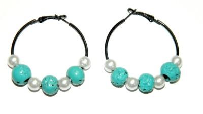 Laron Handicrafts Glass, Metal Hoop Earring