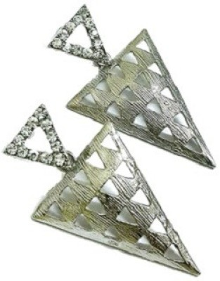 Bling-Bling Silver Triangle Hanging Party Alloy Drop Earring