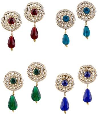 Buyclues RCCJ3419 Crystal Brass Earring Set