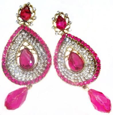 SB Fashions pink earrings Brass Drop Earring