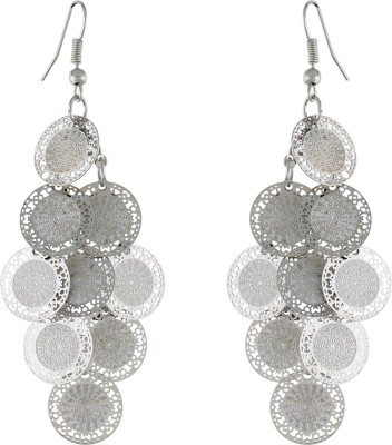 One Stop Fashion Glamours And Stunning Silver Colour Alloy Dangle Earring