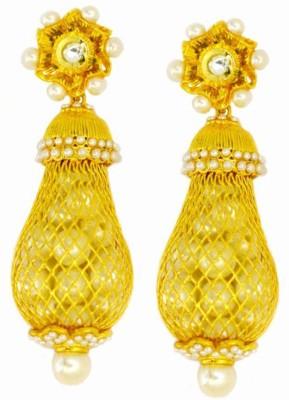 Dilan Jewels Royal Clutter Pearl Silver Jhumki Earring