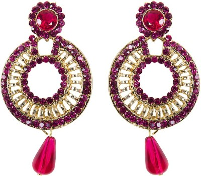 Grand Jewels Chand Yellow Alloy Huggie Earring