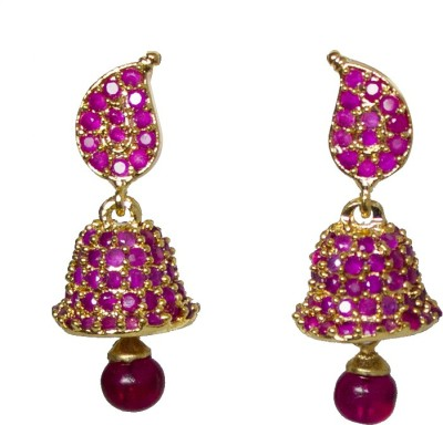 Jewelgrab Sai-Ruby Alloy Jhumki Earring