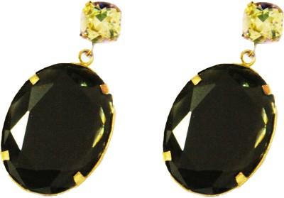 Ornamas Brass, Stone, Resin Drop Earring