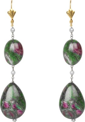 Jaipur Couture Bold Women Ruby Silver Dangle Earring