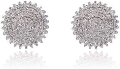 Eve's Wardrobe Enchanting Round Cubic Zirconia Brass Stud Earring