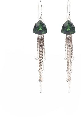 Jewelfin Green Fall Alloy Dangle Earring