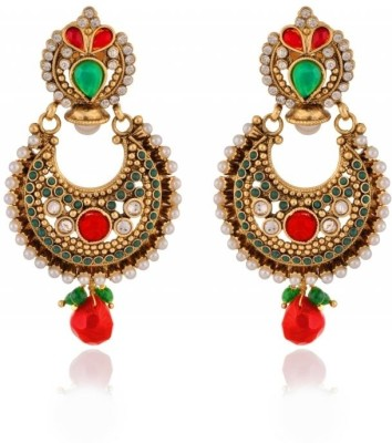 Rooh Jewellery Embelished Copper Dangle Earring