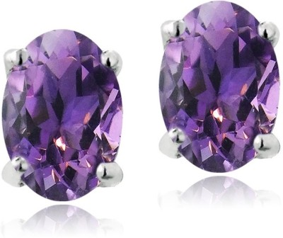Be You Sterling 925 Amethyst Silver Stud Earring