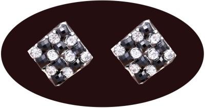 Indian Cheez Diamond Black Stone Check Style Square Earrings Metal Earring Set