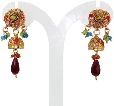 Anjan Lovely Designer Golden Alloy Jhumki Earring
