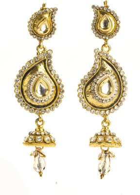 Bejeweled Polki Collection Copper Jhumki Earring