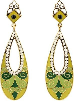 Just Women Green and Yellow Cosmopolitan Alloy Drop Earring