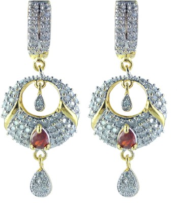 YUVEN Orange-Color With AD Zircon Brass, Alloy Drop Earring