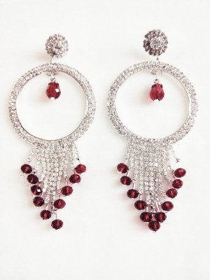 maya creation TREDITIONAL German Silver Chandelier Earring