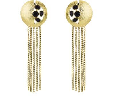 BeBold Long Antique Brass Drop Earring