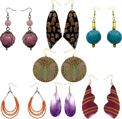 Kenway Retail 7 Days Gift Pack Bone, Glass, Wood Earring Set
