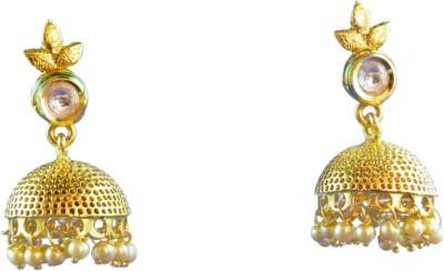 Ratnaraj India Designer Pearl Bridal Traditional Jewellery Peral Copper Jhumki Earring