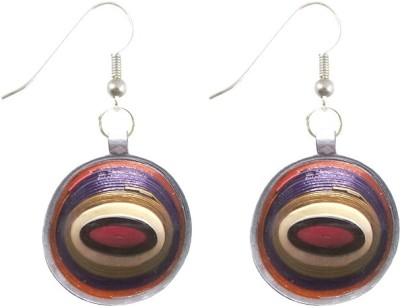 Charvee Shell Quilling Paper Dangle Earring