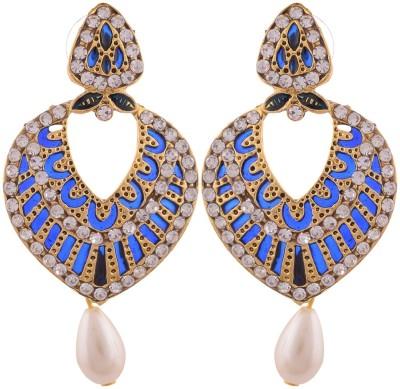 Grandiose Gold Plated Dangle & Drop Copper Drop Earring