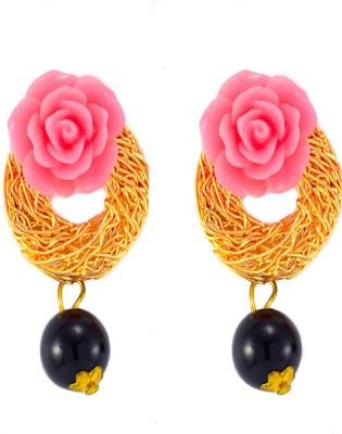 imillery imillery pink rose Alloy Drop Earring