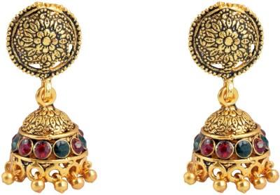 Diovanni Flower Elegant Thumka Metal Jhumki Earring