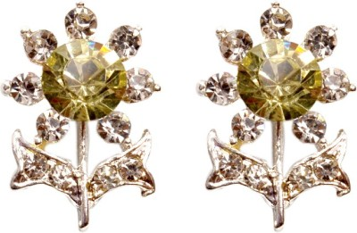 Gracent Flower Shaped Olive Alloy Stud Earring