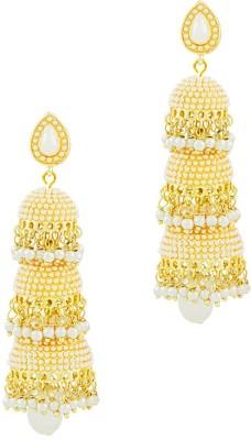 Savvy Shinning Pearl Brass Jhumki Earring