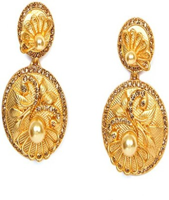Johara Fashion JF17 Pearl Stone Drop Earring