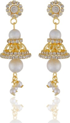 One Stop Fashion Elegant and Smart Gold Plated and Pearl Earrings Alloy Drop Earring