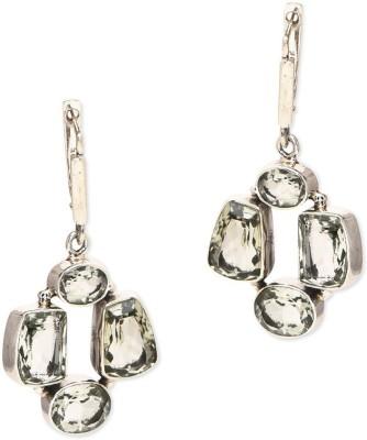Watch Me Stone Collage Earrigs- Silver Sterling Silver Dangle Earring