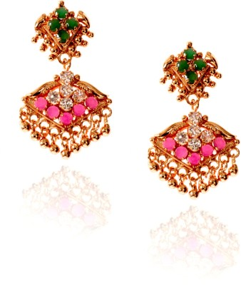 Spaamty Multi-Crystal Alloy Chandelier Earring