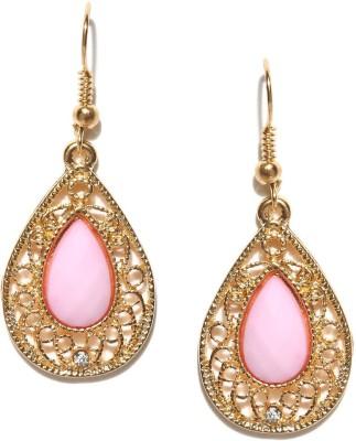 ToniQ Pink Bling Metal Dangle Earring