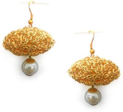 Abhika Jewels The Hindenberg Brass Dangle Earring