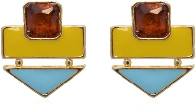 Crunchy Fashion Color Rush Yellow Beachy Alloy Stud Earring