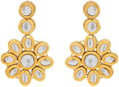 Rajwada Arts Contemporary Design Brass Dangle Earring