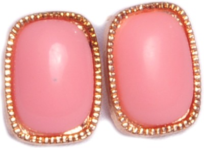 Trinklets Chic Pink Oversized Metal, Acrylic Stud Earring